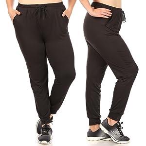 Womens Joggers Plus size,Ladies joggers,sweatpants,yoga loose pant,high waist,lighweight,solid,plus