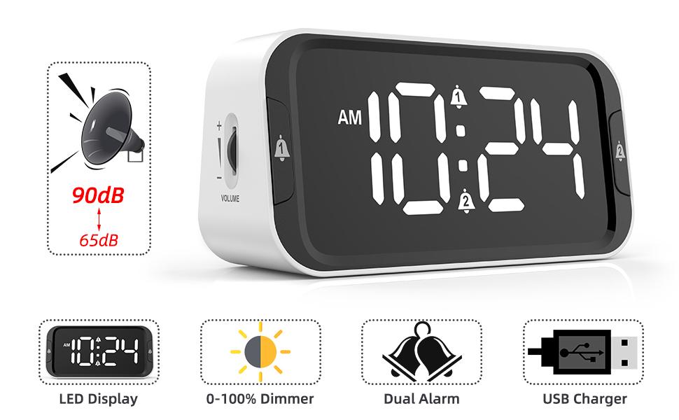 LIELONGREN Digital Alarm Clock