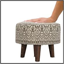 soft cushion upholstered stool foam filling good quality puffy pouf ottoman footrest footstool chair