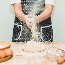 Chef making dough