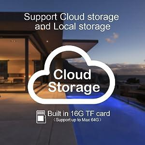 支持云服务和SD卡存储