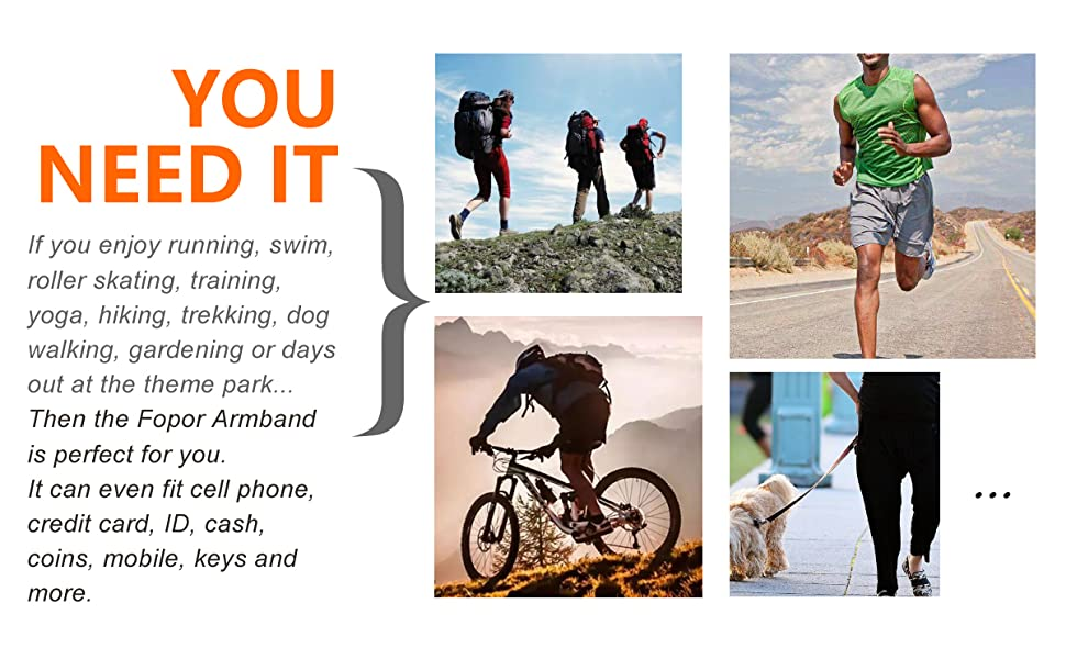 Cellphone Arm Band Sleeve Sports Arm Strap Wristband Pouch Case for Exercise Workout Climbing