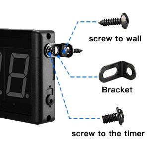 side mount install garage gym crossfit home office club timer