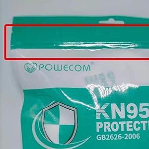 Ziplock Heatsealed Pouch KN95