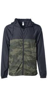 wind break raincoat soft shell jacket pullover zip up anorak coat waterproof washable packable coat