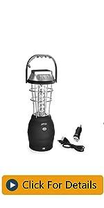 AGPTEK Solar Lantern, 5 Mode Hand Crank Dynamo 36 LED Rechargeable Camping Lantern Emergency Light