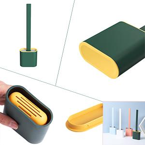 platte siliconen toiletborstel