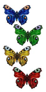 Metal Butterfly Wall Art, 4 Pack