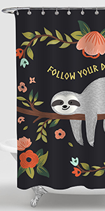 Baby Sloth on the Jungle Forest Tree Shower Curtain