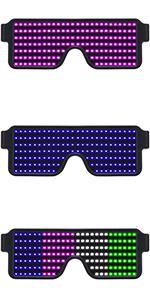 LED Light Up Glasses Dynamic Party Favor Glasses Festival Halloween Christmas