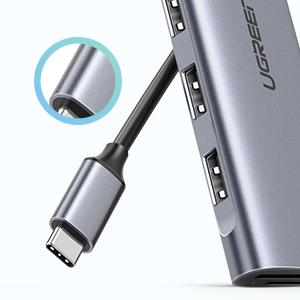 aluminum usb c data hub adapter