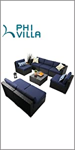 phi villa 8 piece outdoor furniture