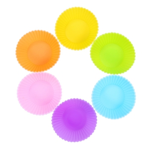 mini silicone baking cups cupcake liners small muffin 2in blue cupcakes foil flower green graduation