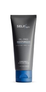 SELFISH mens face lotion oil free active acid vitamin boost for mens skin moistirizing man skincare