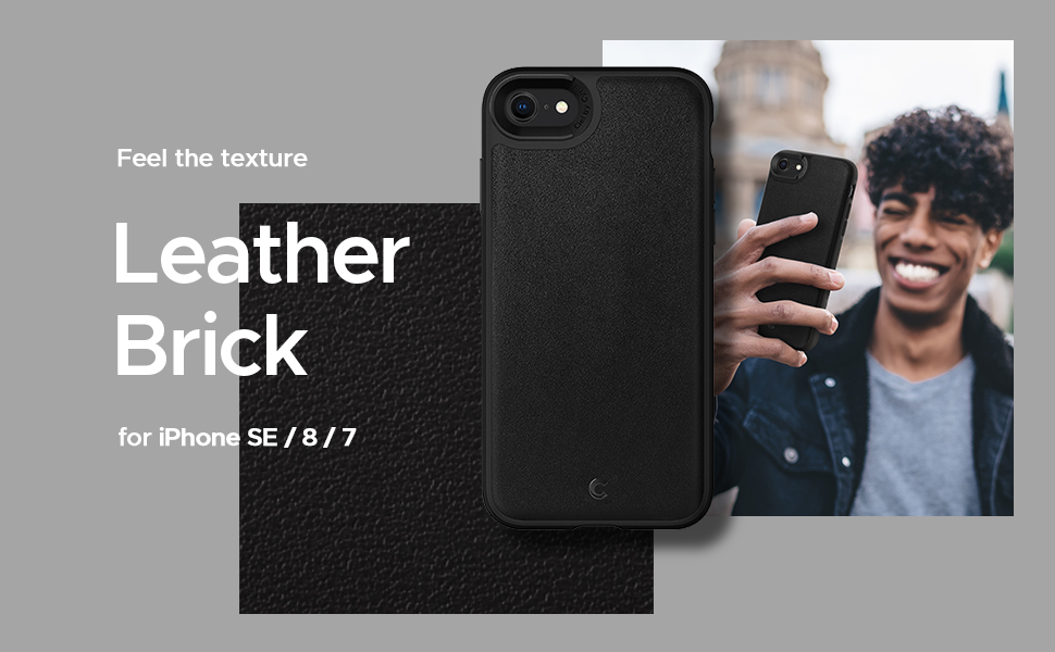 Leather Brick Series for iPhone SE 2020