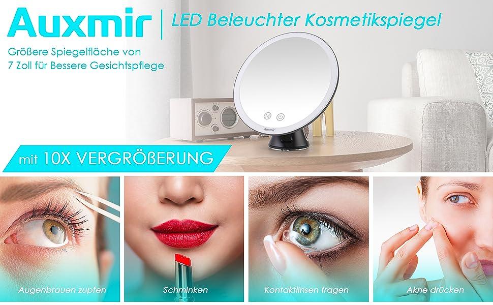 Auxmir LED beleuchter Kosmetikspiegel