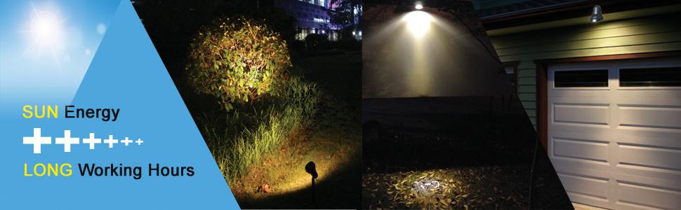 Outdoor Solar Landscape Spotlights