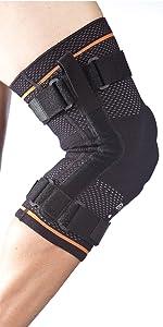 hinged knee brace