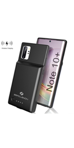 Galaxy Note 10 Plus 5000mAh Battery Case Wireless Charging