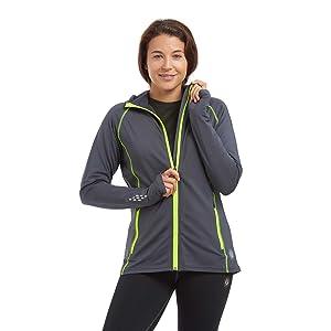 Full length zipped running jacket