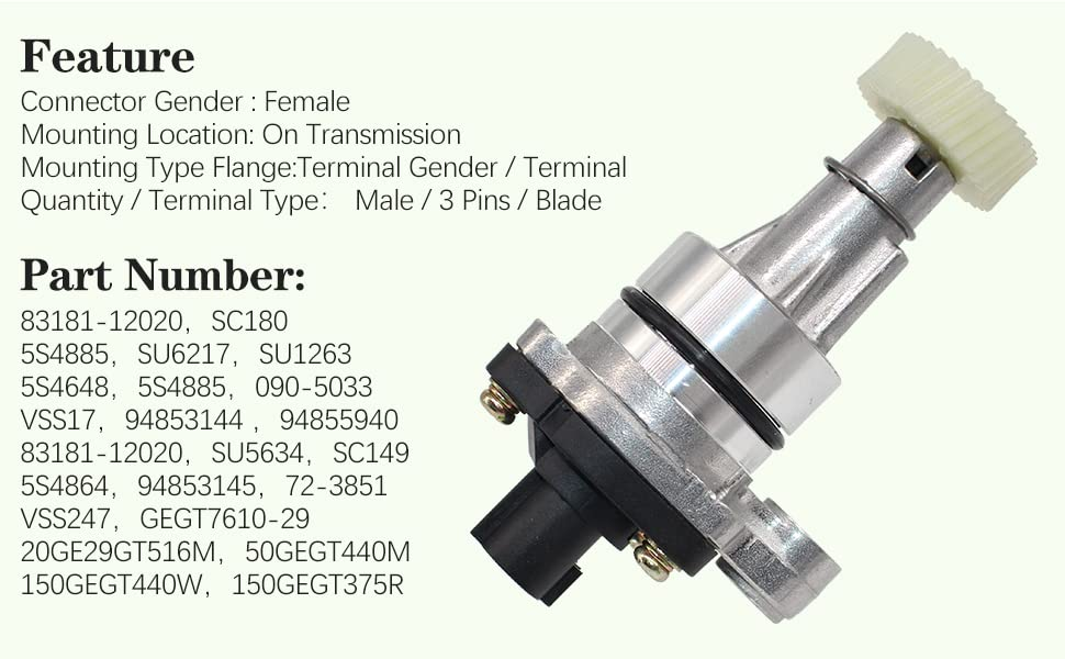 Vehicle Speed Speedometer Sensor Transmission For Chevrolet Geo Lexus Toyota