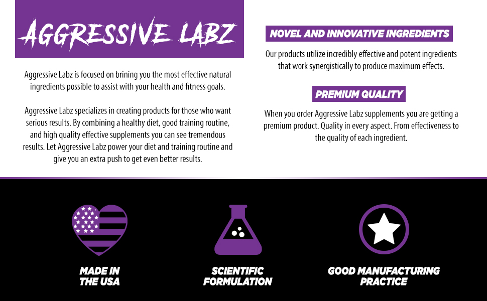 Aggressive labz Quality Made in the USA.
