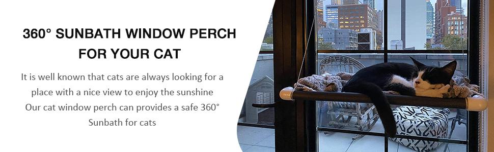 Cat Hammocks for Window with Plush Pad