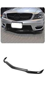 fits Mercedes Benz W204 C204 C63 AMG Bumper 2D 4D 2012-2014 Carbon Fiber Front Chin Spoiler