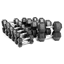 rubber encased dumbbells, hex rubber coated dumb bells, weight bars, gym barbells, gym weights, pro