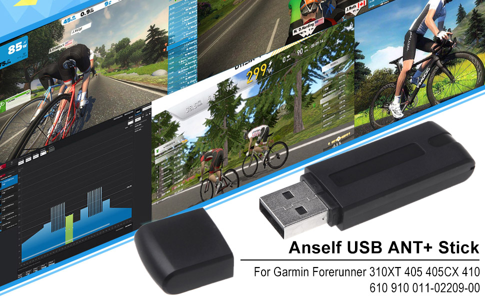 Anself USB ANT+Stick Compatible With Garmin Forerunner 310XT 405 405CX 410  610 910 011-02209-00