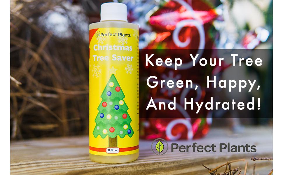 Liquid Christmas tree food holiday tree saver needle drop reducer how to make Christmas trees last