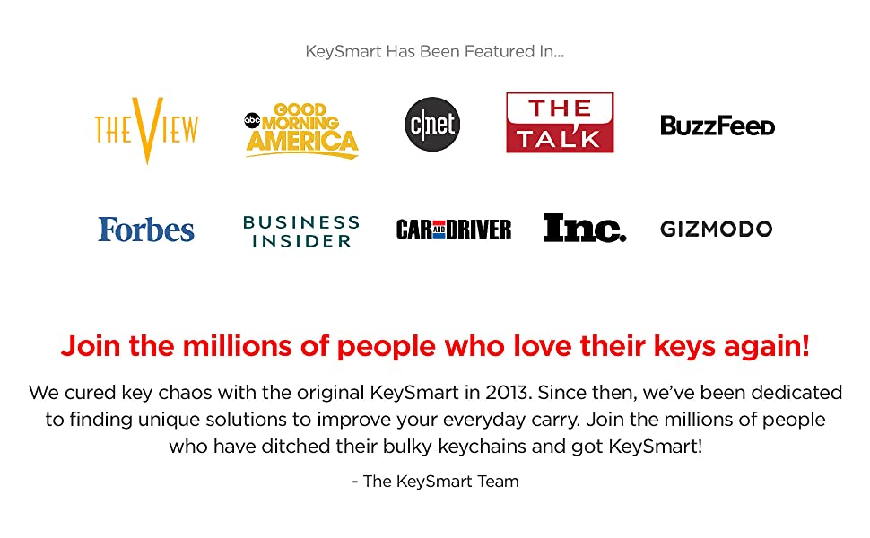 Join the 5 million people who love their keys again!