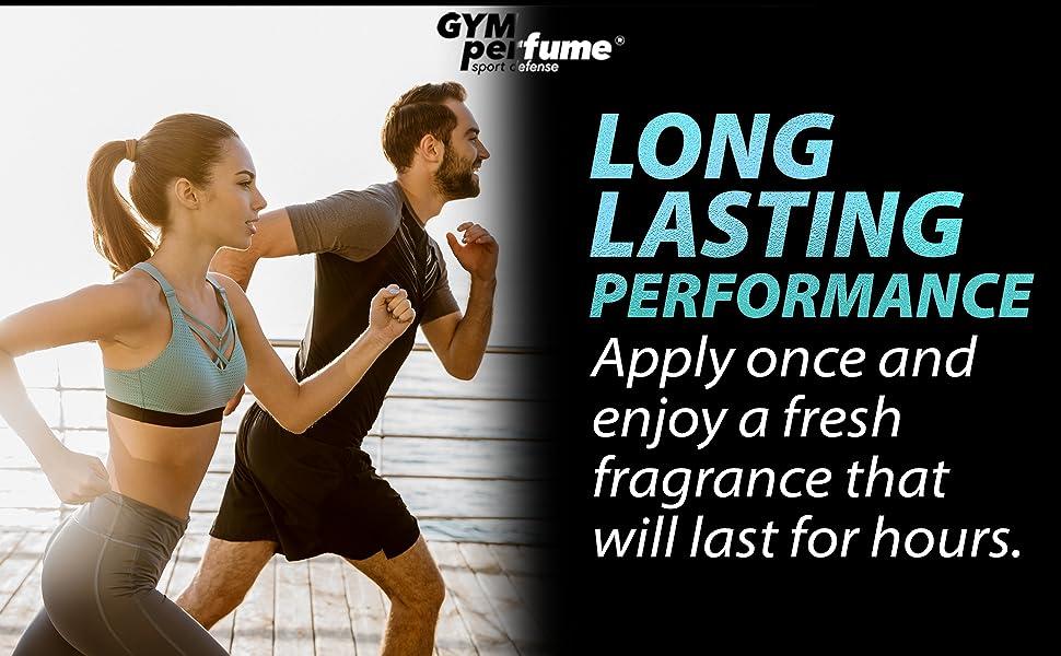 gymperfume long lasting performance body spray deodorant aluminum free for men and women