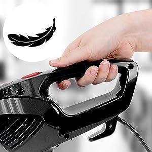 aspiradora de escoba vertical pequeña hogar oficina sin bolsa filtro hepa reutilizable ligera