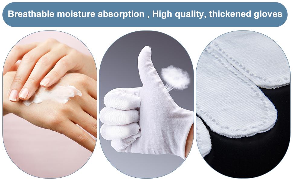 Thick white cotton gloves