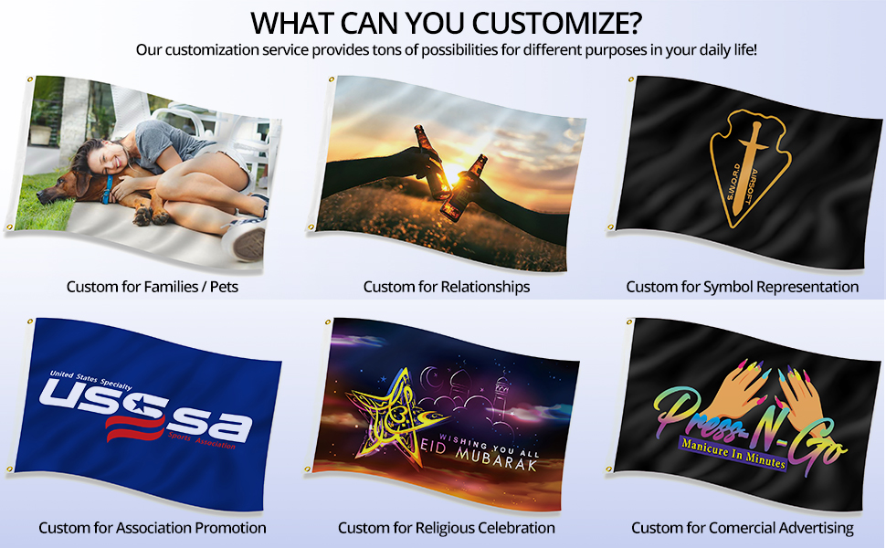 custom flag for sale customize for different purposes adjust your design for free
