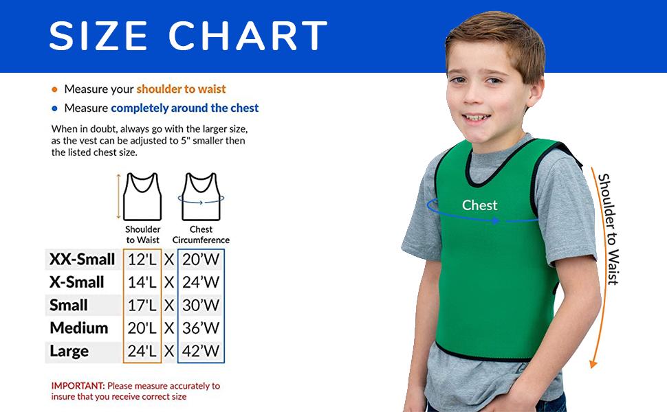 Compression Vests Size Chart