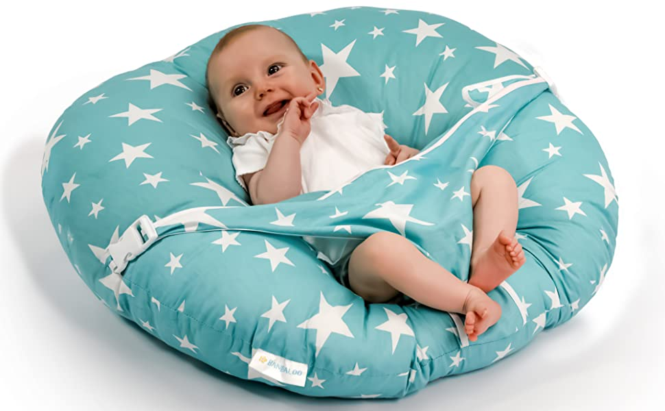 Tumbona plegable para beb/é reci/én nacido dise/ño de cuna Corona gris OhhGo algod/ón