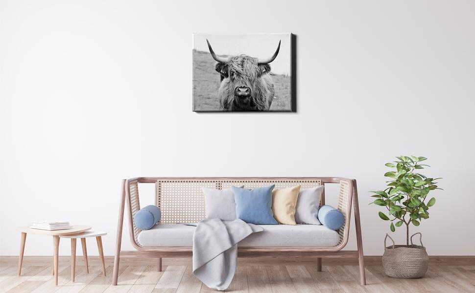 Cow Canvas Wall Art