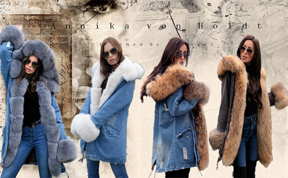 Winter Women Print Casual Fur Parka Outwear Jacket Warm Long Party Plus Size