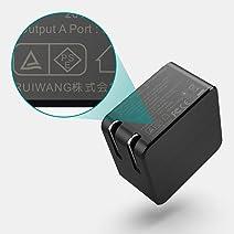 PD充電器 65W TypeC急速充電器2ポート 折畳式 PD/QC3.0対応 MacBook/iPad/iPhone/Galaxy/Nintendo及び他のUSB-C機種に対応 - A565AC ブラック