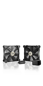 AC Infinity MULTIFAN S7-P Quiet 120mm AC-Powered Fan Receiver DVR Playstation Xbox Component Cooling