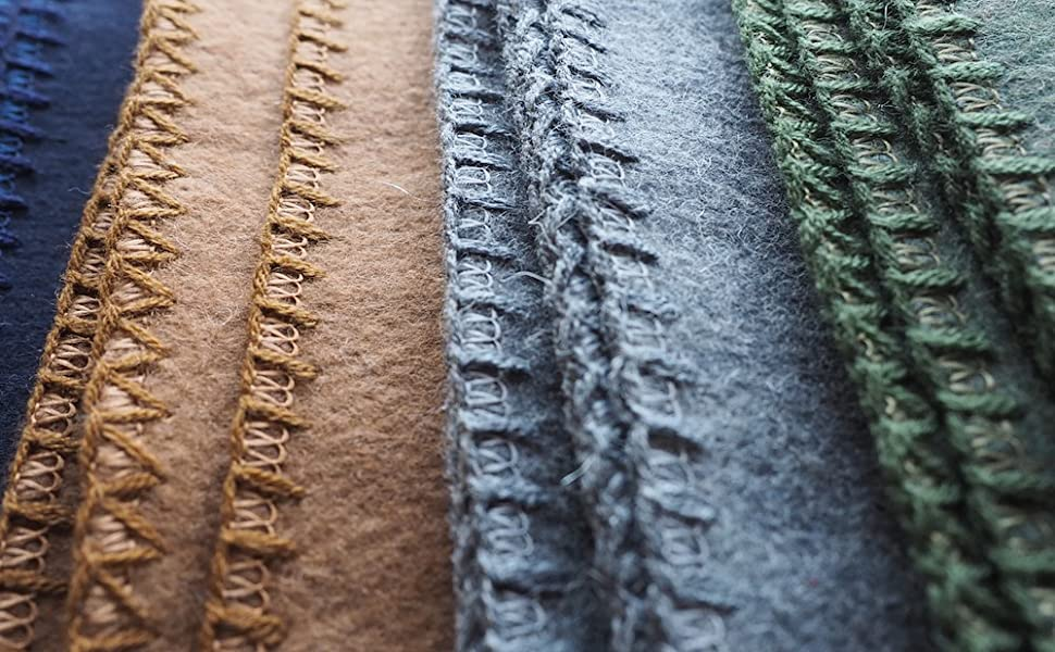 High-Quality Whipstitched Edging