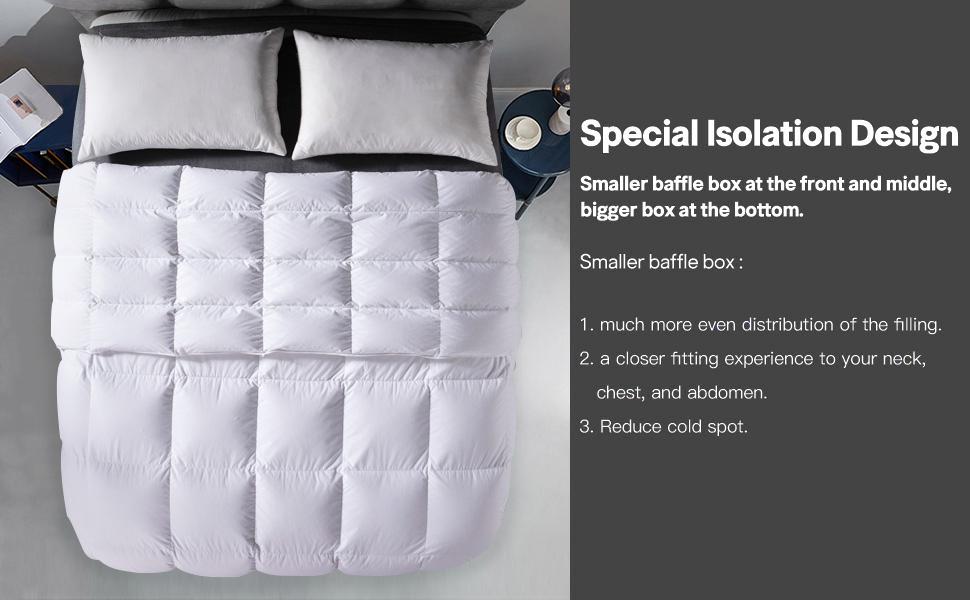 goose down comforter king size all season down duvet  lightweight  duvet insert