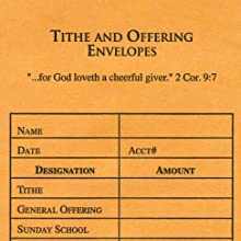 offering envelope, offering supplies, tithing supplies, church supplies, tithe and offering envelope