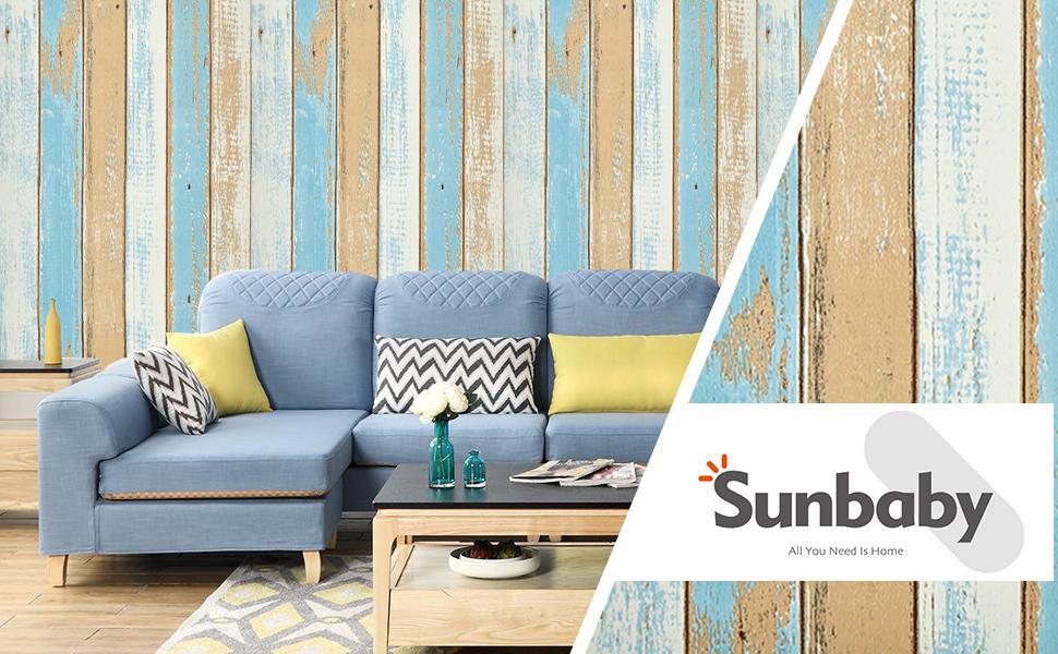 Peel and Stick Wallpaper Wood Wallpaper Removable Wallpaper Wall Decor