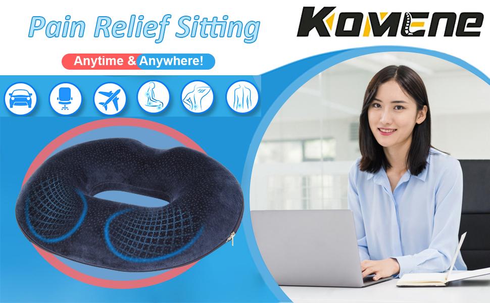 Komene Ergonomic Seat Cushion Pillows for Office Chair