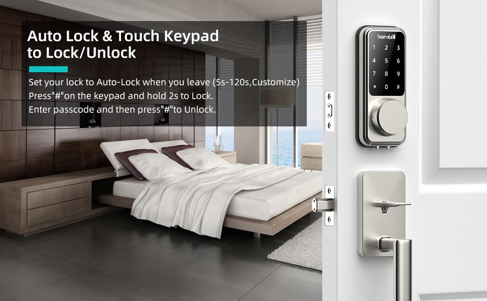 3  [2020 Newest] Smart Lock Keyless Entry Deadbolt Door Locks, Digital Electronic Bluetooth Deadbolt Door Lock with Keypad, Smart Locks Front Door Work with APP, Code and eKey Auto Lock for Homes Hotels 04abcbc7 5f66 4879 8566 64f7937d1bc5