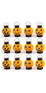 1 Dozen Halloween Light Up Pumpkin Lanterns