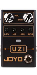 JOYO R-03 UZI Distortion Pedal Guitar Effect Pedal for Heavy Metal Music